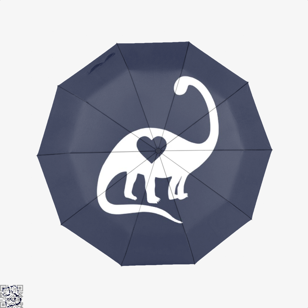 Dinosaur With Heart Valentines Day Umbrella - Productgenjpg