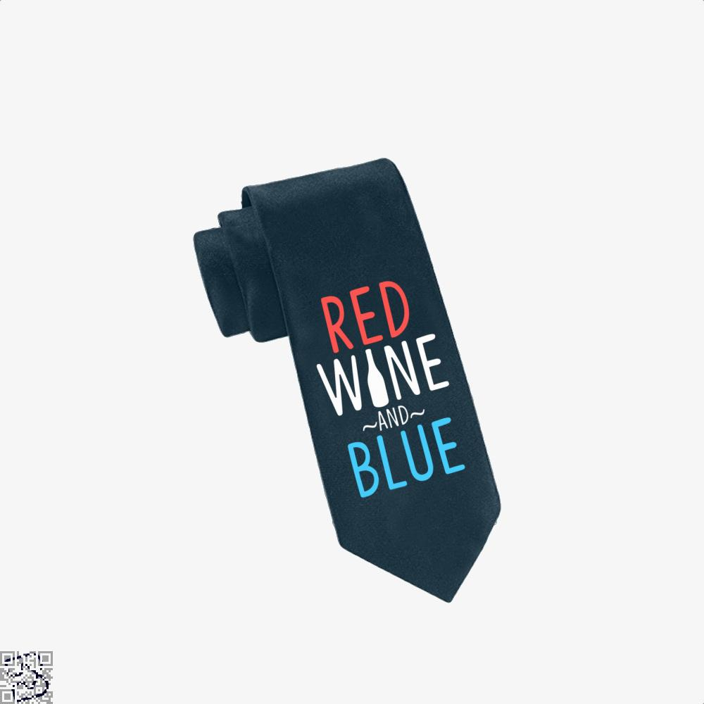Red Wine And Blue, Wine Tie