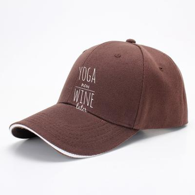 Yoga Now Wine Later, Yoga Baseball Cap