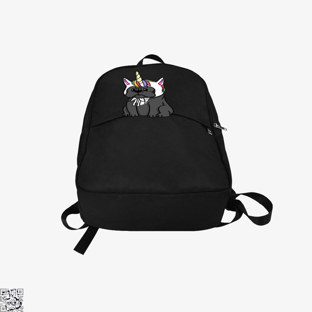 Funny Unicorn French Bulldog, French Bulldog Backpack