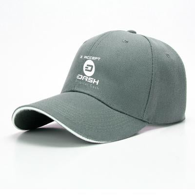 I Aceept Dash Digital Cash, Bitcoin Baseball Cap
