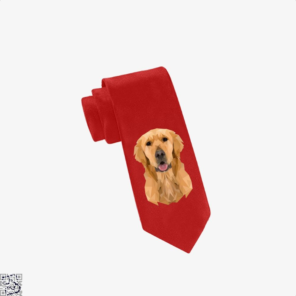 Golden Boy Golden Retriever Dog Low Polygon, Golden Retriever Tie