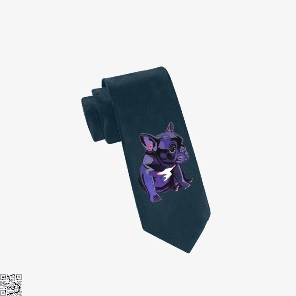 French Bulldog In Purple, French Bulldog Tie