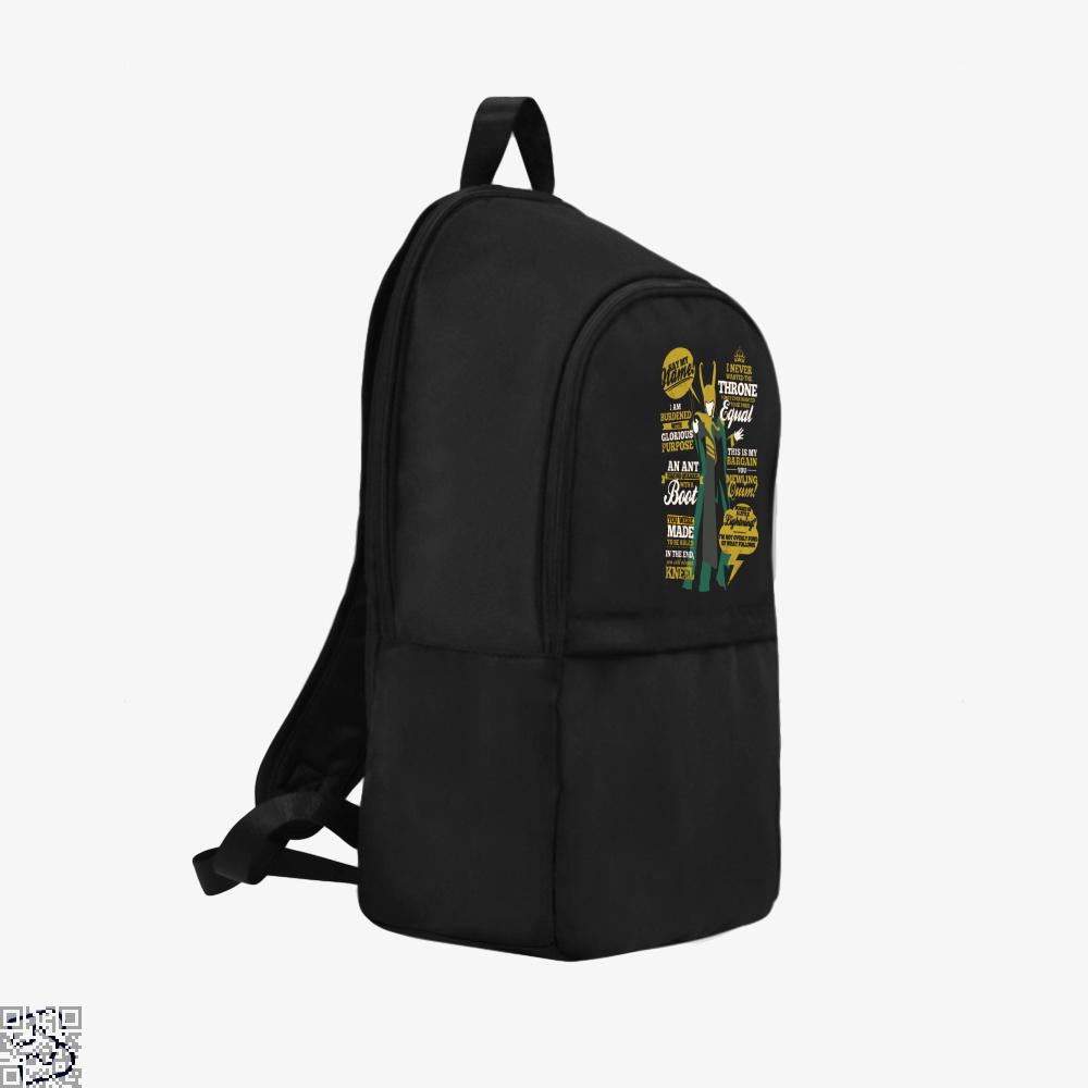 Quotes Of A Mischief God, Loki Backpack