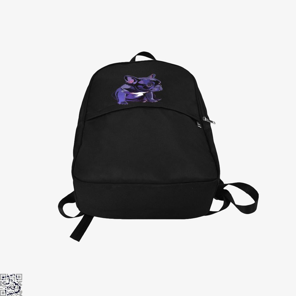 French Bulldog In Purple, French Bulldog Backpack
