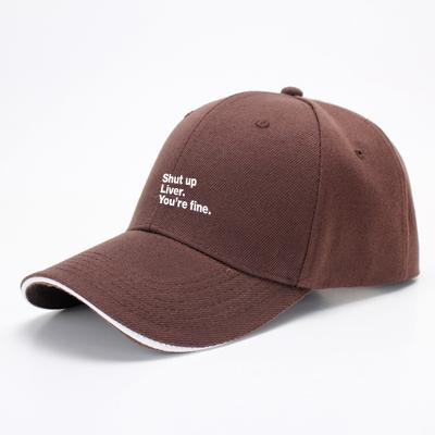 Shut Up Liver You're Fine, Wine Baseball Cap