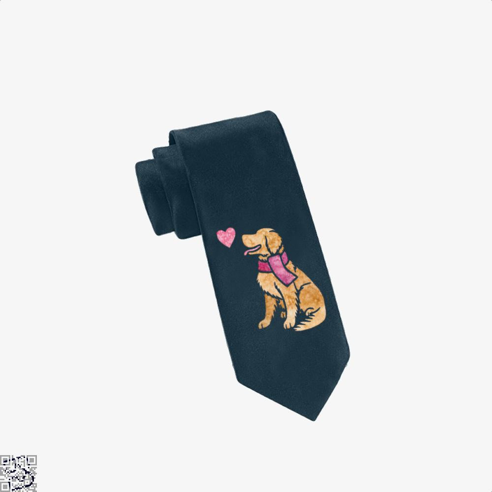Watercolour Golden Retriever, Golden Retriever Tie