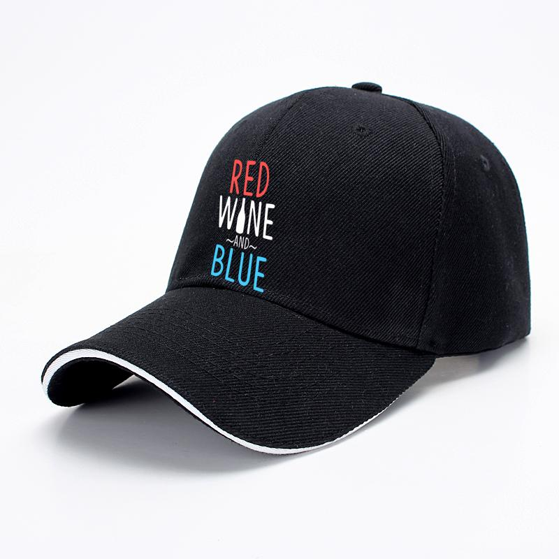 Red Wine And Blue, Wine Baseball Cap