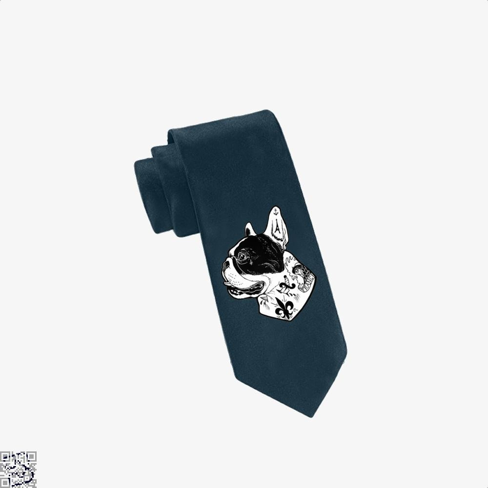 Tattooed French Bulldog, French Bulldog Tie
