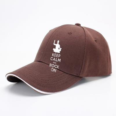 Keep Calm And Rock On Yoga Meditation Christmas Gift, Yoga Baseball Cap