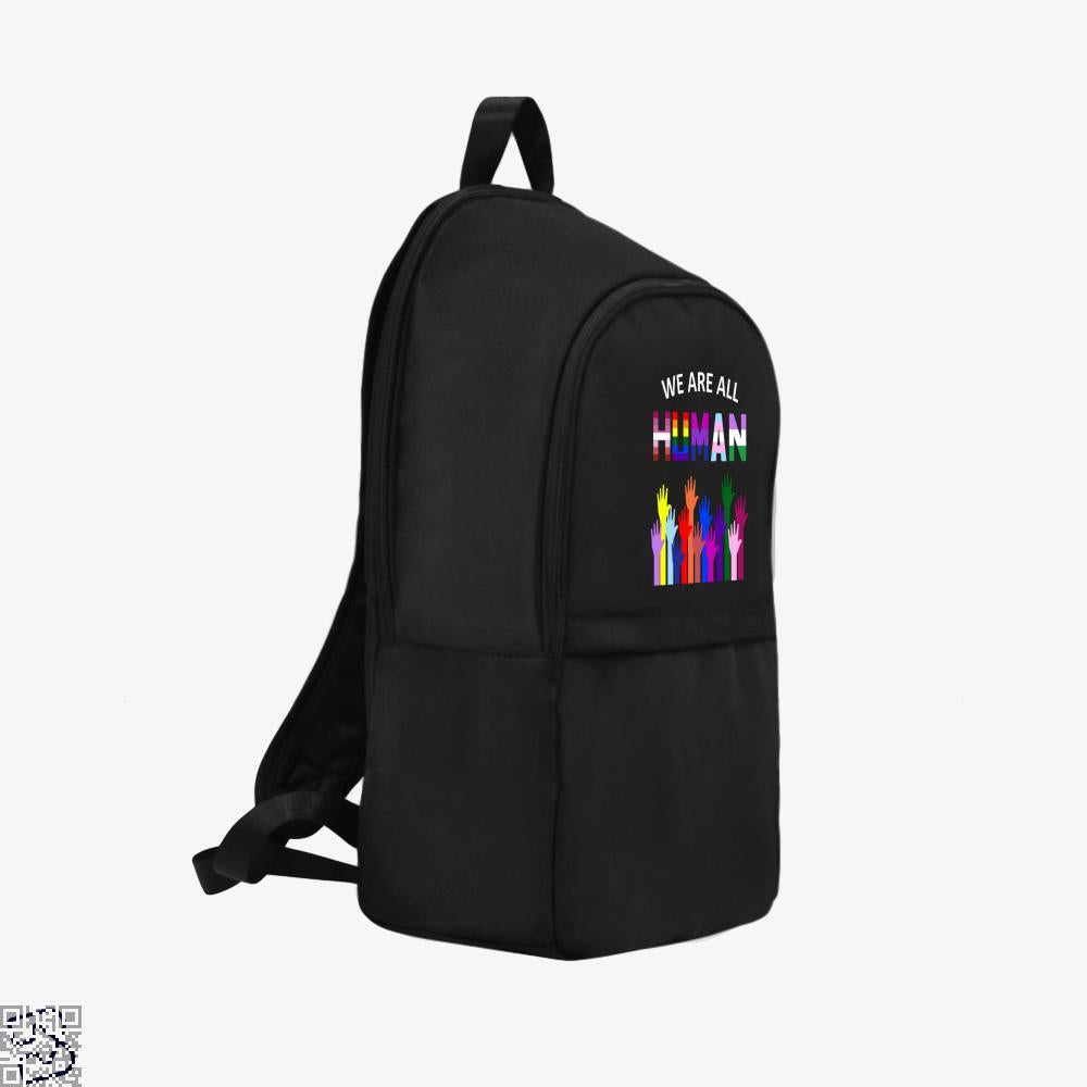 We Are All Human Lgbt Gay Rights Pride Ally Gift, Lgbt Backpack