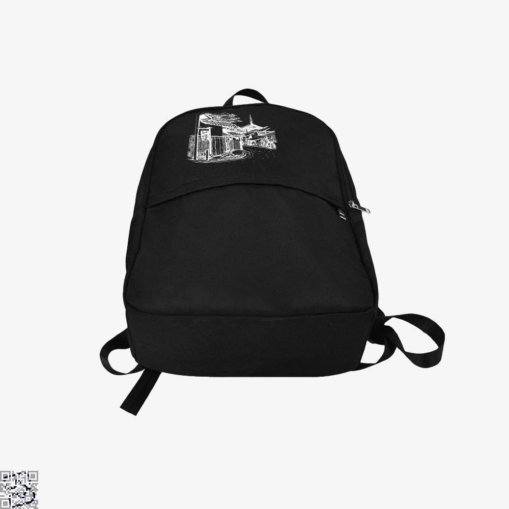 Japanese Town Sketch Bapupstore Japanesepainting Japaneseart Japanesetattoo Japan, Klgarts Backpack
