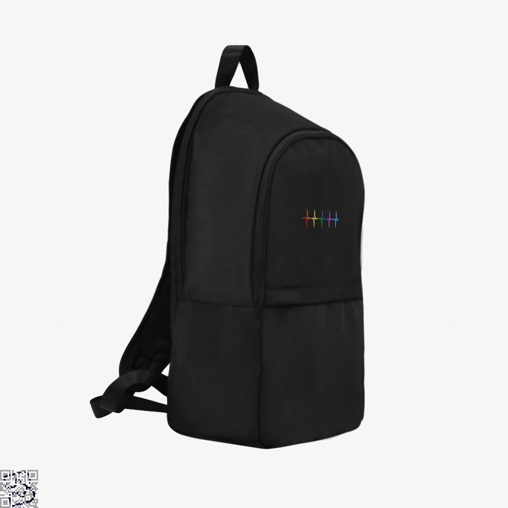 Gay Pride Lgbt Heartbeat Pulse, Lgbt Backpack