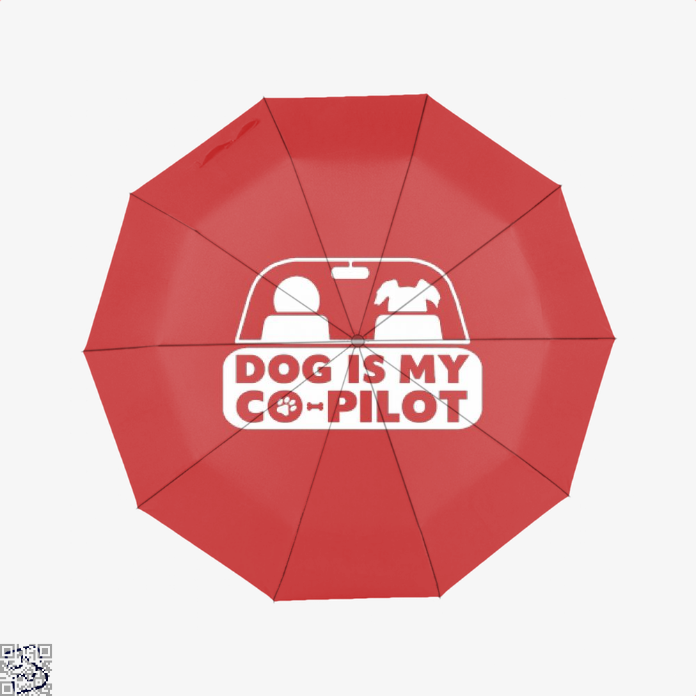 Dog Is My Co-Pilot Ironic Umbrella - Red - Productgenjpg