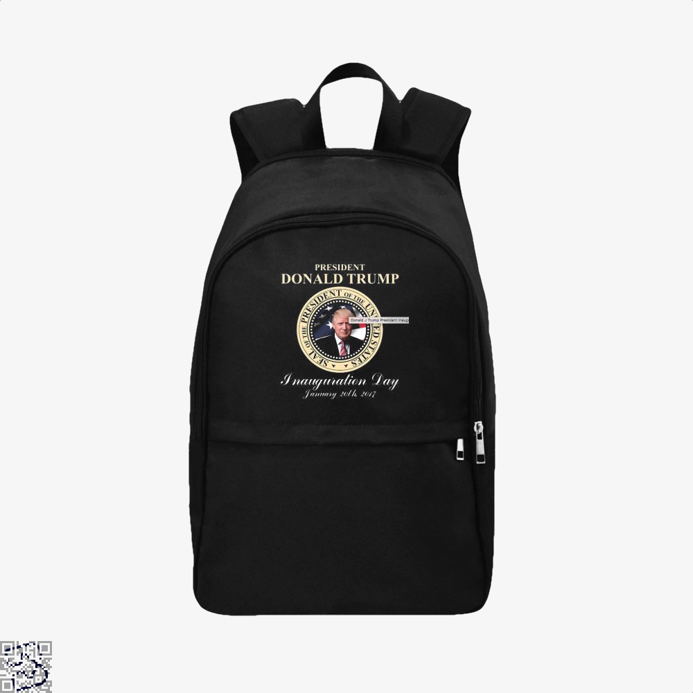 Donald J Trump President Inauguration Day Teasing Backpack - Black / Adult - Productgenjpg