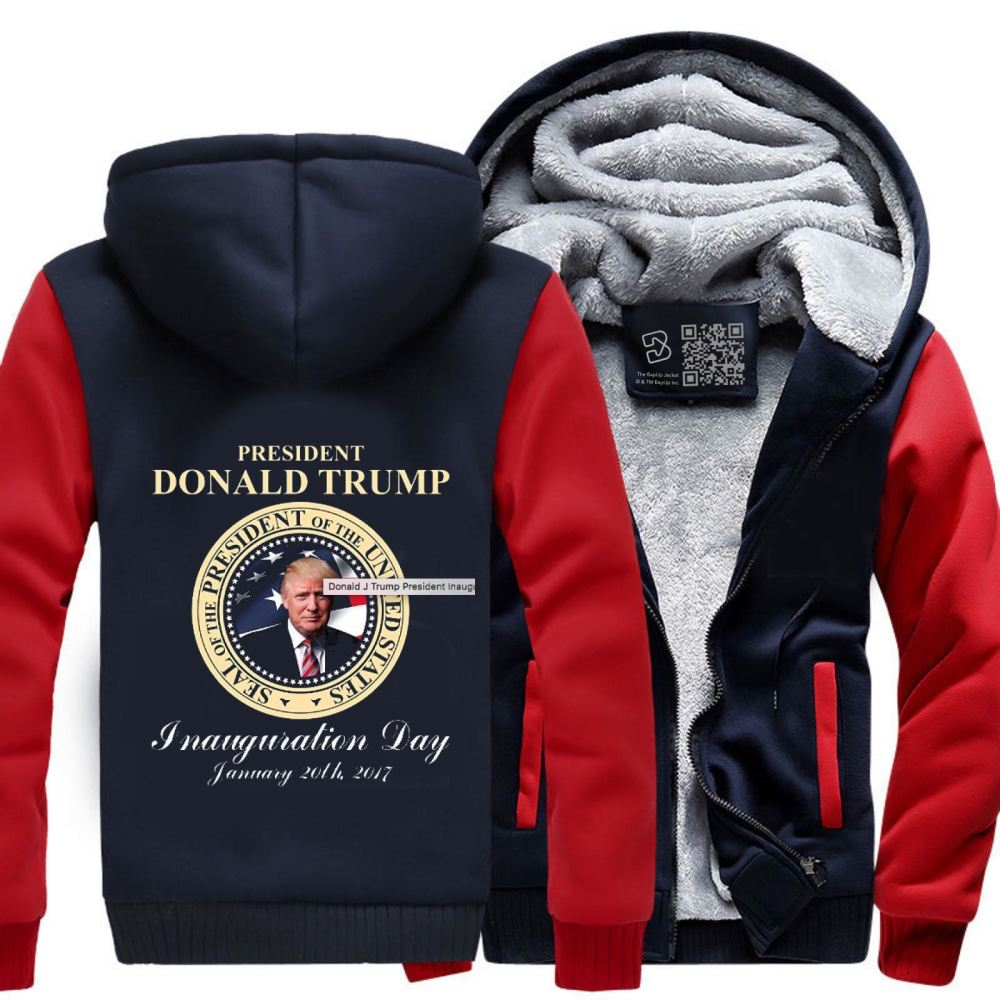 Donald J Trump President Inauguration Day Teasing Fleece Jacket - Productgenjpg