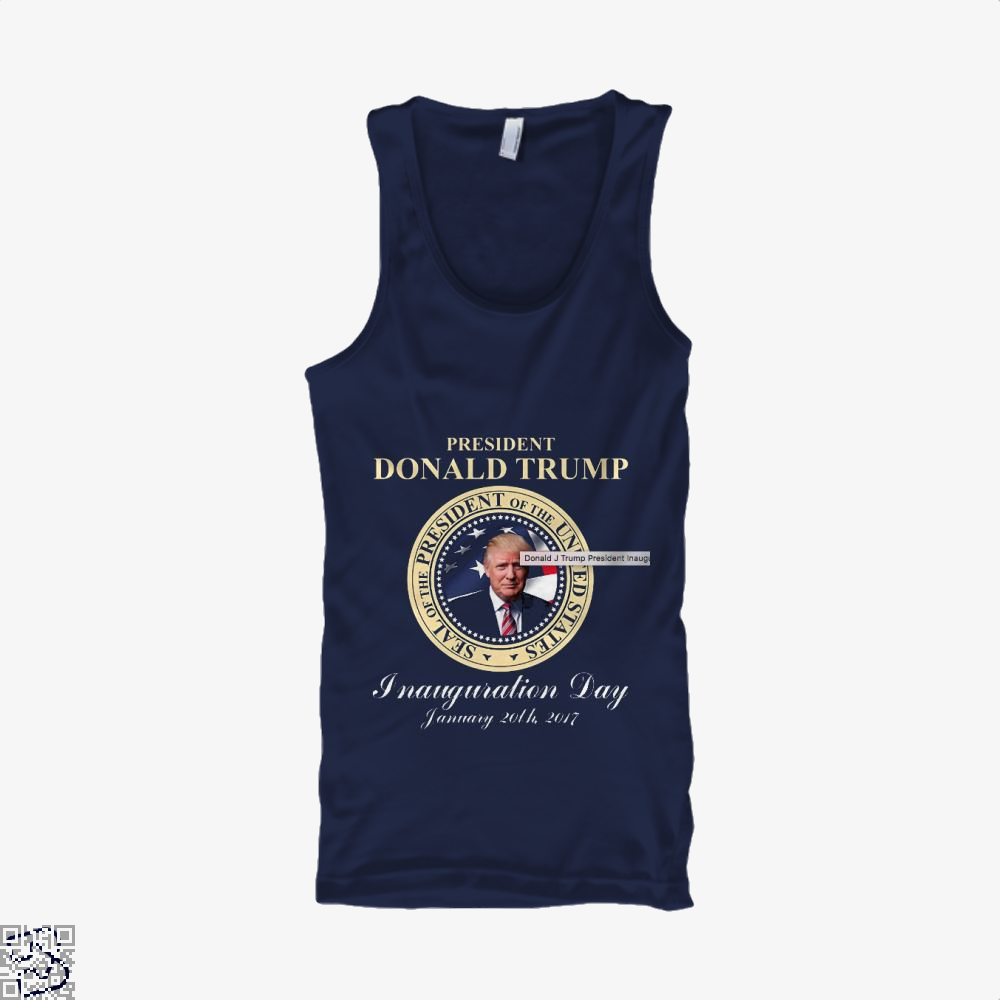 Donald J Trump President Inauguration Day Teasing Tank Top - Men / Blue / X-Small - Productgenjpg