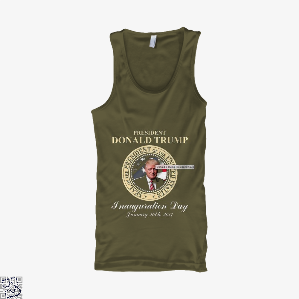 Donald J Trump President Inauguration Day Teasing Tank Top - Men / Brown / X-Small - Productgenjpg