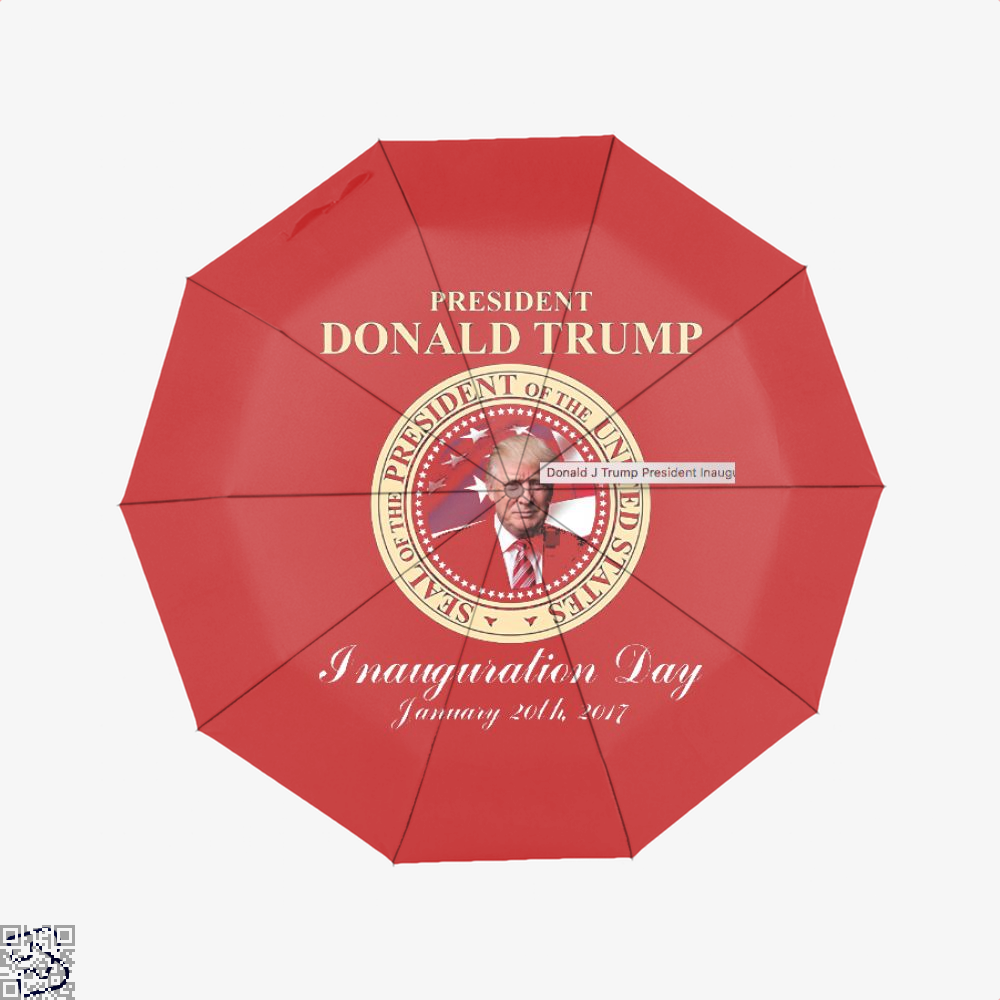 Donald J Trump President Inauguration Day Teasing Umbrella - Red - Productgenjpg