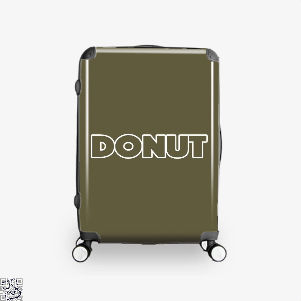 Donut Doughnuts Suitcase - Brown / 16 - Productgenapi