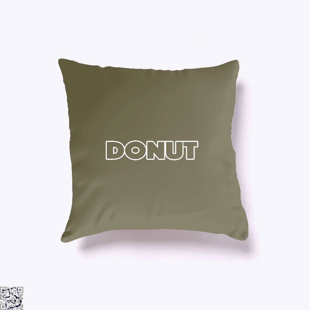 Donut Doughnuts Throw Pillow Cover - Brown / 16 X - Productgenapi