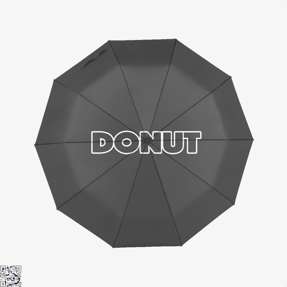 Donut Doughnuts Umbrella - Black - Productgenapi