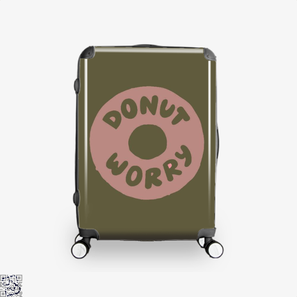 Donut Worry Doughnuts Suitcase - Brown / 16 - Productgenapi
