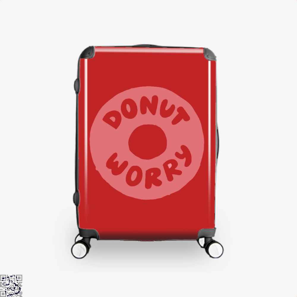 Donut Worry Doughnuts Suitcase - Red / 16 - Productgenapi