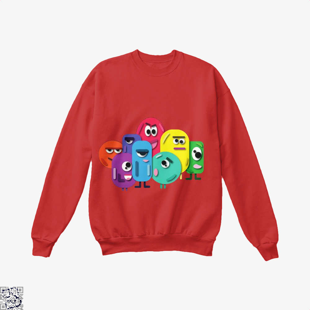 Doodle Buddy Trials Aathira Mohan Crew Neck Sweatshirt - Red / X-Small - Productgenapi