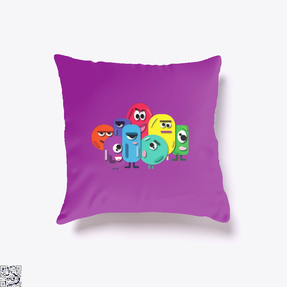 Doodle Buddy Trials Aathira Mohan Throw Pillow Cover - Purple / 16 X - Productgenapi