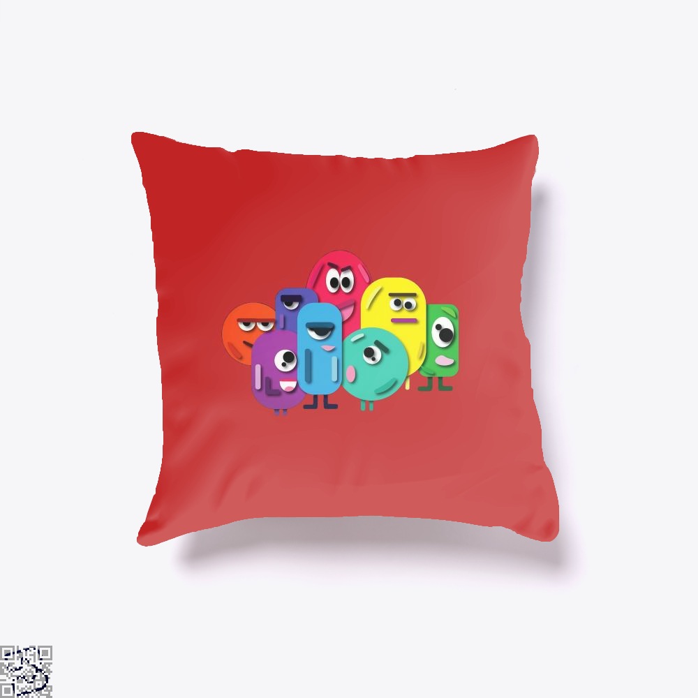Doodle Buddy Trials Aathira Mohan Throw Pillow Cover - Red / 16 X - Productgenapi