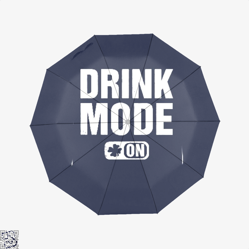 Drink Mode On Irish Clover Umbrella - Blue - Productgenjpg