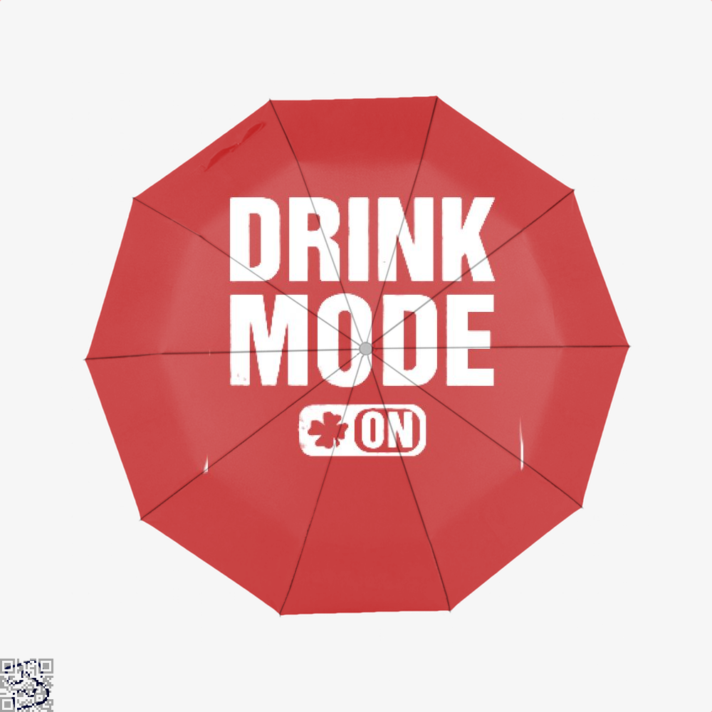 Drink Mode On Irish Clover Umbrella - Red - Productgenjpg