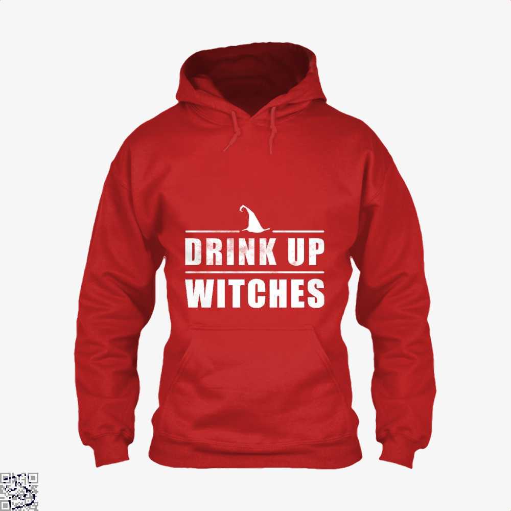 Drink Up Witches Halloween Gift Hoodie - Red / X-Small - Productgenjpg
