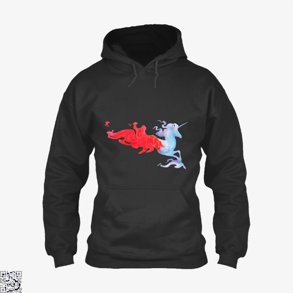 Driven By Fire Horse Hoodie - Black / X-Small - Productgenjpg