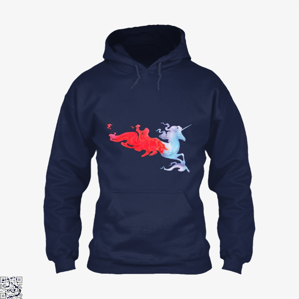 Driven By Fire Horse Hoodie - Blue / X-Small - Productgenjpg
