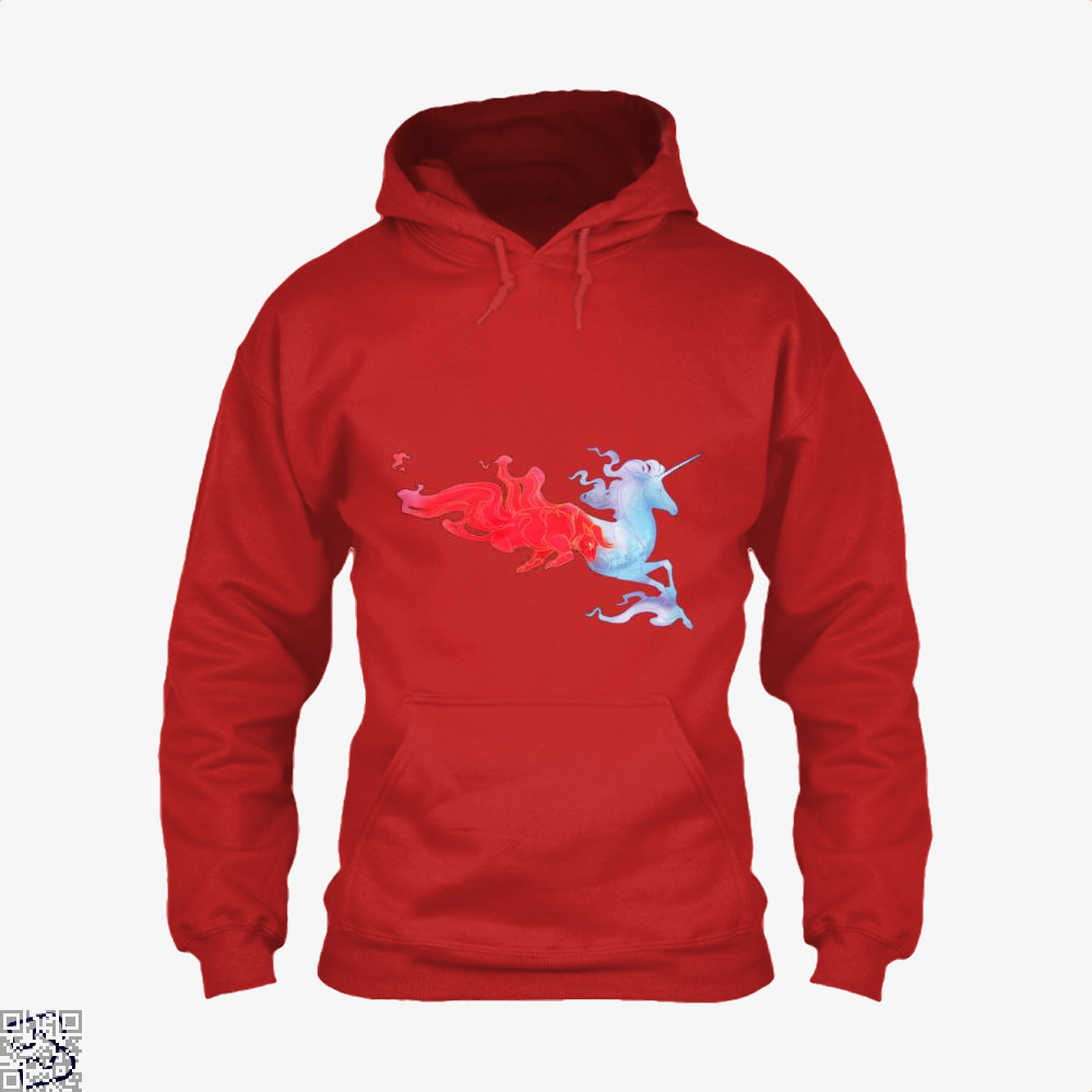 Driven By Fire Horse Hoodie - Red / X-Small - Productgenjpg