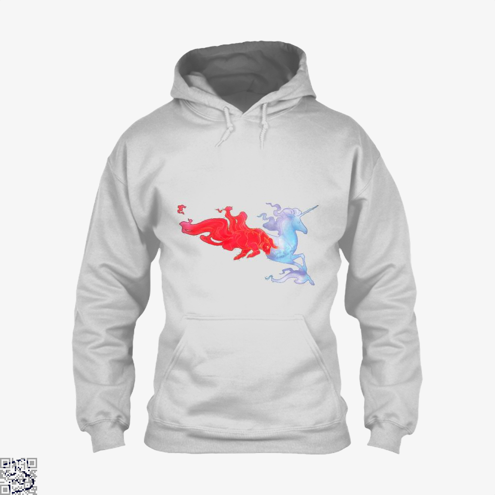 Driven By Fire Horse Hoodie - White / X-Small - Productgenjpg