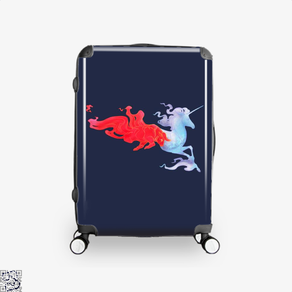 Driven By Fire Horse Suitcase - Blue / 16 - Productgenjpg