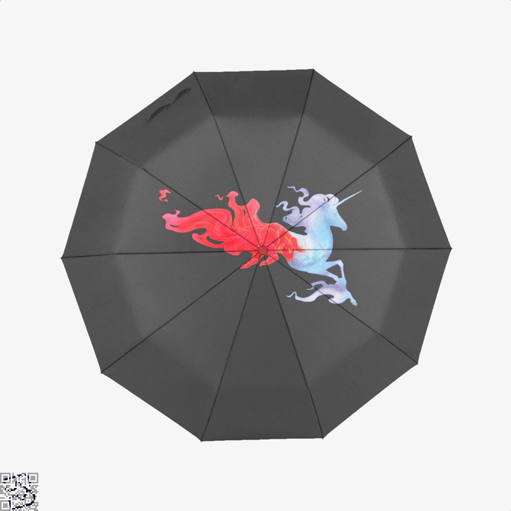Driven By Fire Horse Umbrella - Black - Productgenjpg