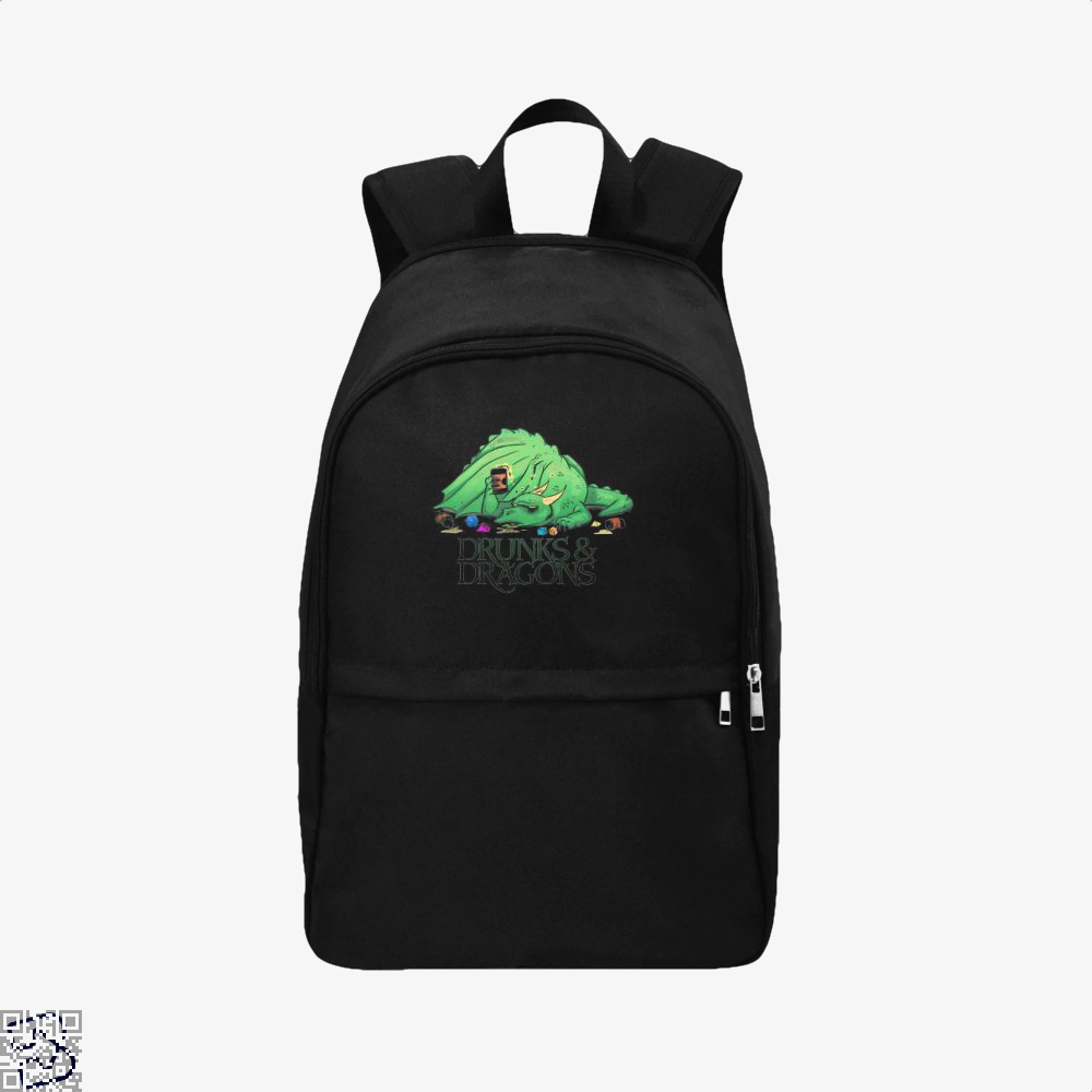 Drunk Dragon And Dungeon Backpack - Black / Adult - Productgenjpg