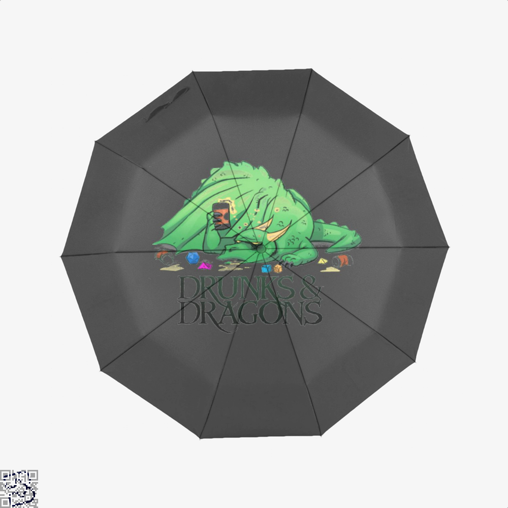 Drunk Dragon And Dungeon Umbrella - Black - Productgenjpg