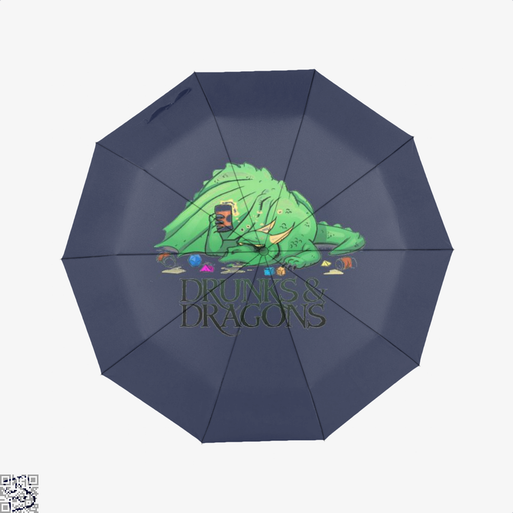 Drunk Dragon And Dungeon Umbrella - Blue - Productgenjpg