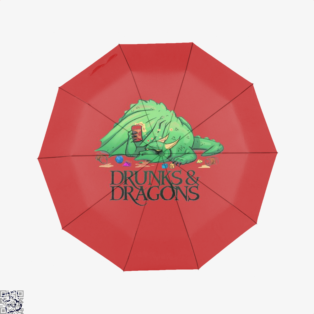 Drunk Dragon And Dungeon Umbrella - Red - Productgenjpg