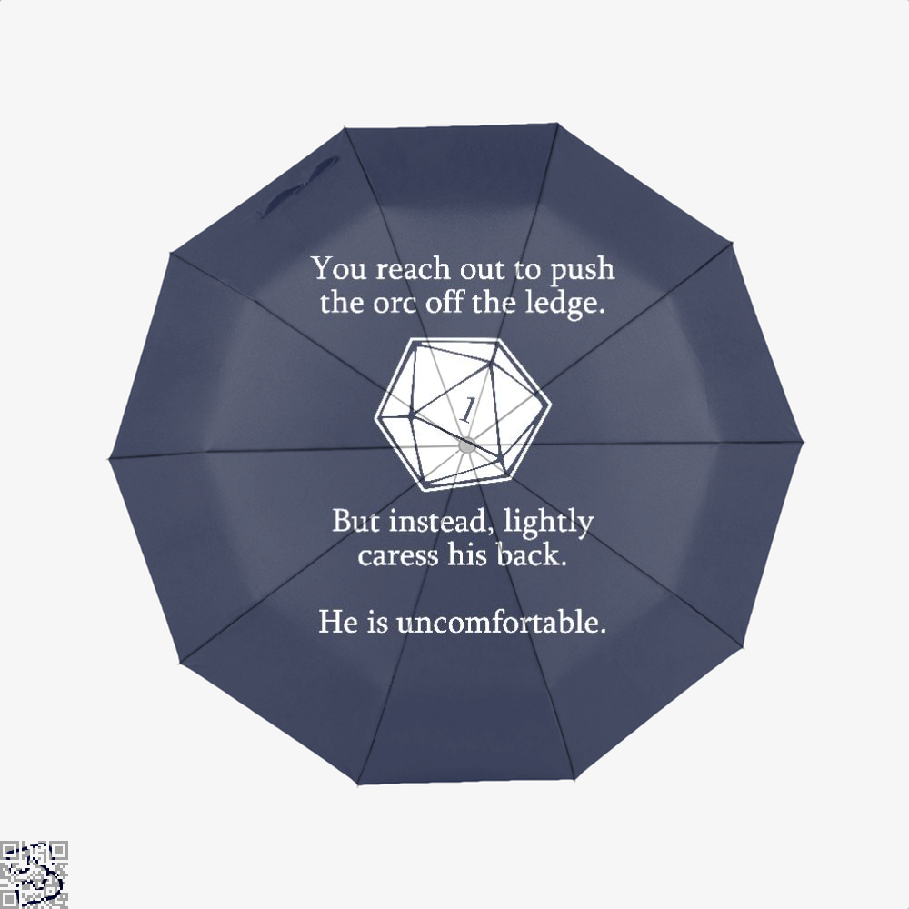 Dungeons And Dragons D20 Roll Dragon Dungeon Umbrella - Blue - Productgenjpg