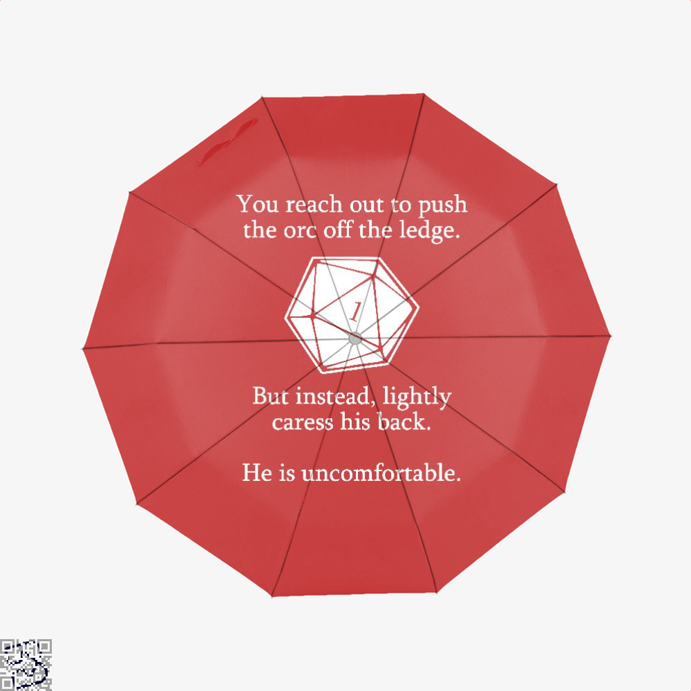 Dungeons And Dragons D20 Roll Dragon Dungeon Umbrella - Red - Productgenjpg