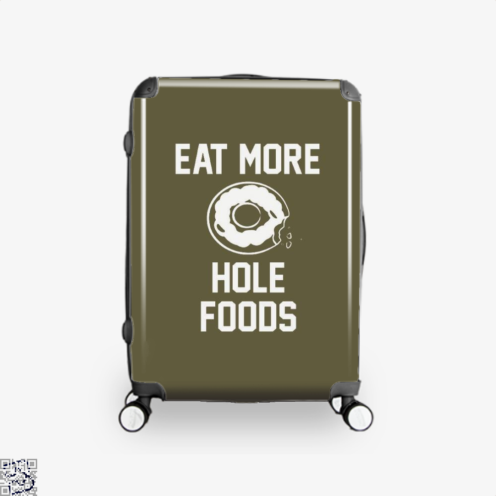 Eat More Hole Food Donut Lover Doughnuts Suitcase - Brown / 16 - Productgenapi