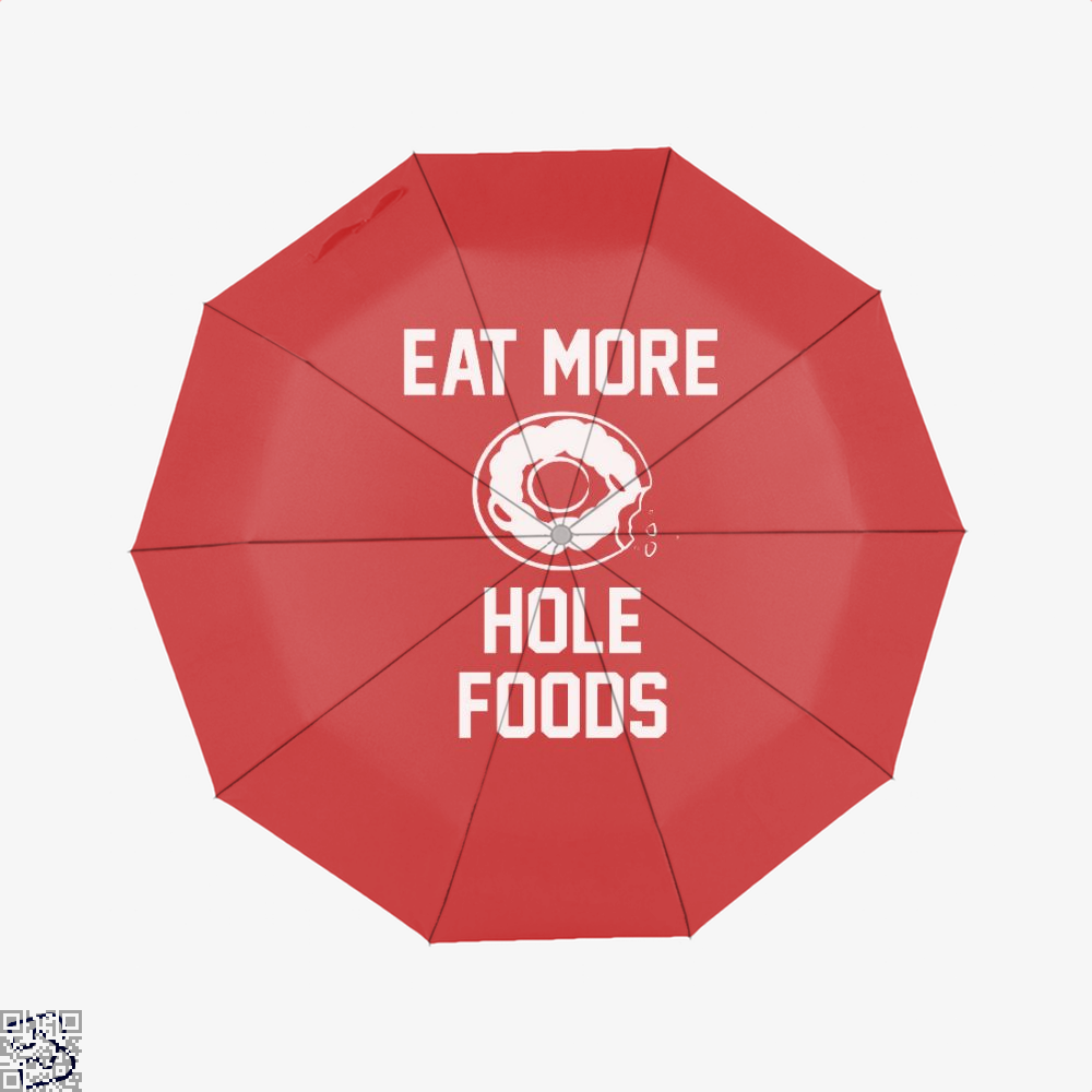 Eat More Hole Food Donut Lover Doughnuts Umbrella - Red - Productgenapi