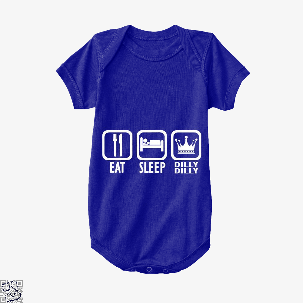 Eat Sleep Dilly Dilly Dilly Dilly Baby Onesie - Navy / 0-3 Months - Productgenapi