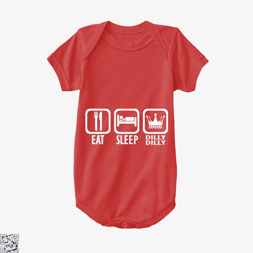 Eat Sleep Dilly Dilly Dilly Dilly Baby Onesie - Red / 0-3 Months - Productgenapi